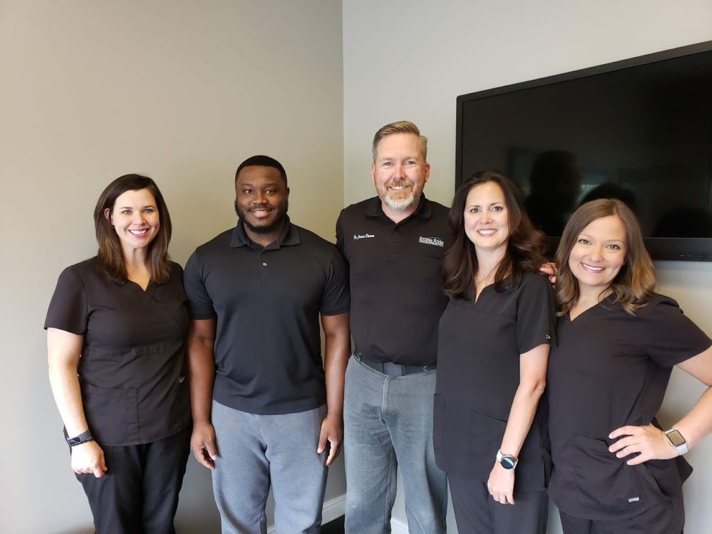 Staff at Stones River Chiropractic, Amie, Bryson, Dr. James Dawes, Dr. Kimberly Dawes, Bethany